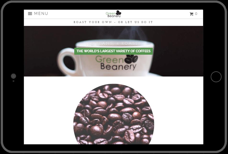 GreenBeanery website screen shot